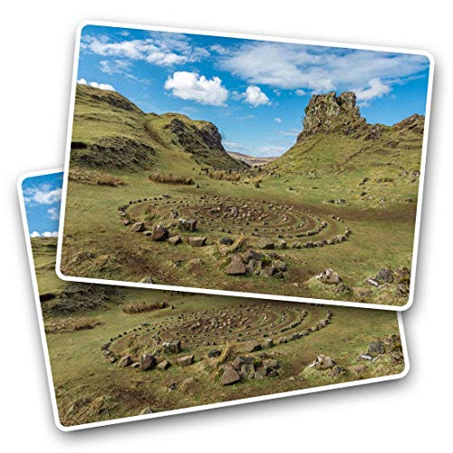 Awesome Rectangle Stickers(Set of 2) 7.5cm - Fairy Glen Isle of Skye Scotland Fun Decals for Laptops,Tablets,Luggage,Scrap Booking,Fridges,Cool Gift #44993