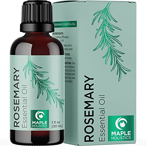 Pure Rosemary Essential Oil for Aromatherapy - Pure Rosemary Oil for Hair Skin and Nails - Refreshing Rosemary Essential Oil for Humidifier and Diffusers Plus Scalp and Hair Oil for Enhanced Shine