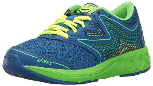 ASICS Boys' Noosa FF GS Running Shoe, Imperial/Green Gecko/Safety Yellow, 7 M US Big Kid