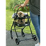 Pet Gear View 360 Pet Stroller Travel System 3-in-1 Carrier, Booster Seat and Stroller with Push Button Entry, Silver Pearl (PG8140NZSP) 12