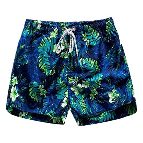 Pantalones Cortos de Verano para Mujer Pantalones Cortos de natación Floral Shorts de Las Mujeres de Secado rápido de Las Mujeres más tamaño