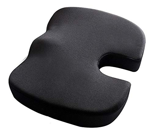 FAZTER™ Premium Orthopedic Memory Foam Coccyx Seat Cushion for Tailbone Pain Relief, Sciatica, Pelvic Pressure, and Hip Pain- Regular Firm Above 50 Kg Body Weight