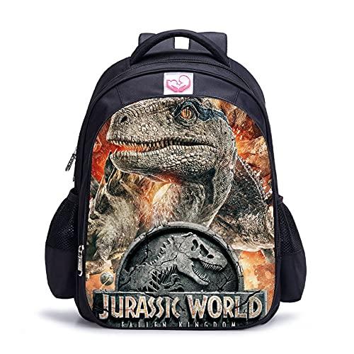 Jurassic Park Mochilas escolares Bolsas de almuerzo Estudiante Bolsa de hombro 3D Impreso Jurassic World Bolsas