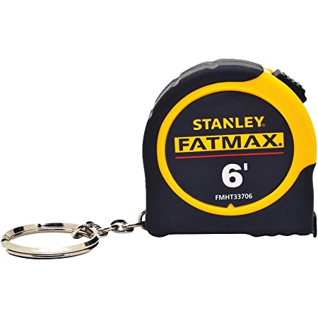 Stanley FMHT33706W Fat Max Keychain Tape Rule, 1/2-Inch by 6-Feet