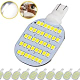 Super Bright T10 921 922 912 LED Bulbs for 12V RV Ceiling Dome Light RV Interior Lighting Trailer Camper, White 600 Lumens (Pack of 10)