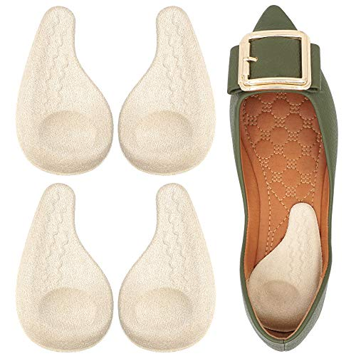 Dr. Foot's Supination Insoles & Overpronation Insoles, Medial & Lateral Heel Cups for Foot Alignment, Knee Pain, Bow Legs, Osteoarthritis (Medium - Women's 8-11.5|Men's 6-10.5, Beige)