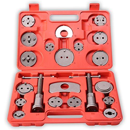 TRESKO 22 tlg Bremskolbenrücksteller Set - Rückstellwerkzeug zum Zurückstellen des Bremskolben, KFZ-Werkzeug, universell