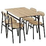 ぼん家具 ダイニングセット ダイニングテーブル 5点セット 4人用 チェア4脚 110×70cm おしゃれ オーク