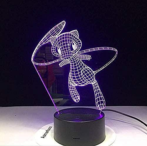 Luz Deslizante 3Dled Elf Fuente De Alimentación Usb Interruptor Táctil Intermitente De 7 Colores Decoración Del Dormitorio Iluminación Control Remoto De 7 Colores