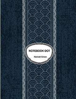 Notebook dot: Sashiko indigo dye: Notebook Journal Diary, 110 pages, 8.5