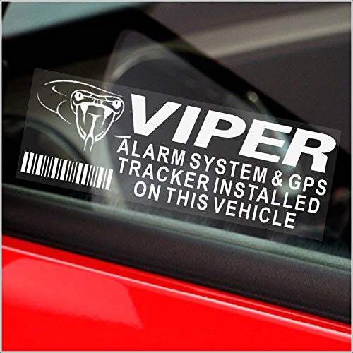 5 x Viper Alarm and GPS Tracking Device Window Dummy Security Stickers,3.4 x 1.1 inch,Automobile,Vehicle,Car,Van,Truck Warning Tracker Signs