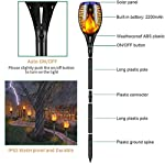 Ambaret Solar Lights Outdoor, Waterproof Flickering Flames Solar Torch Lights Outdoor Landscape Decoration Lights Dusk…