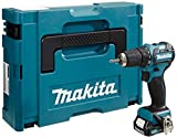 MakitaTaladro atornillador (10,8V set con 1batería en Makpac, 1pieza, sin cargador)