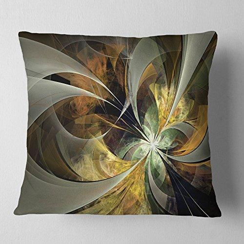 Design Artdesignart Symmetrical Gold Fractal Flower Floral Throw Cushion Pillow Cover For Living Room Sofa 16 X 16 Dailymail