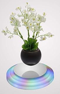 LED Floating Bonsai Pot - Magnetic Suspension Levitating Air Bonsai Pot for Home Office Decoration -Creative Design levitation Bonsai