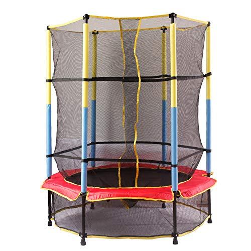 HXZZP Indoor Trampoline Jumper, plezier en fitness voor kinderen van 3 jaar en ouder, voor gebruik als een indoor ongelooflijk veilig met een net- en randhoes Draagbaar 200 kg
