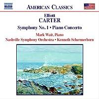 カーター:交響曲第1番/ピアノ協奏曲/祭日序曲(ナッシュヴィル響/シャーマーホーン)