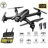 JJR/C GPS Drone FPV HD 720P Pliable Quadricoptère RC,Une Opération Clé/Vol De Trajectoire/Contrôle De Gravité,Avion Portable pour Ados, Adultes Et Débutants,2Battery