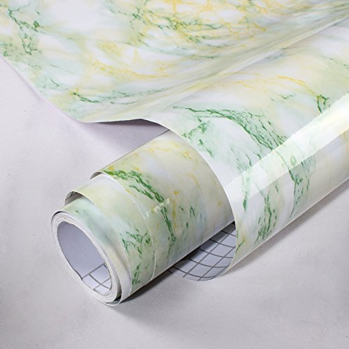 TS-nslixuan LGH-Verdickung, wasserdicht, PVC-Anti- Aufkleber, kunstmarmor Muster, Fensterbänke, Schrank, Schränke, Desktop, Aufkleber, 60 cm*5 m renoviert, Verschiedene Größen, Grün, 60 cm*5 m