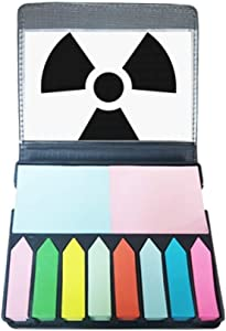 Dangerous Chemical Toxic Radiation Pattern Self Stick Note Color Page Marker Box