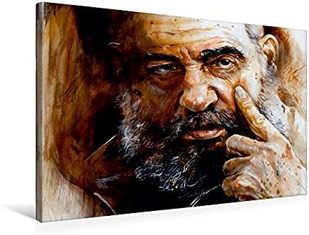 Fidel Castro - Tela 45 x 30 cm, Orizzontale, 75x50 cm