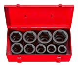 TEKTON 1 Inch Drive Deep 6-Point Impact Socket Set, 9-Piece (1-2 in.) | 4892