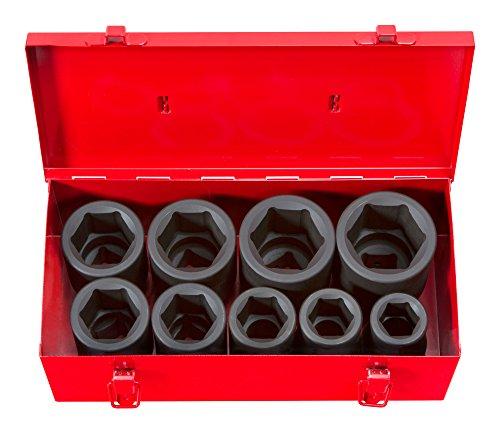TEKTON 1 Inch Drive Deep 6-Point Impact Socket Set, 9-Piece (1-2 in.) | 4892