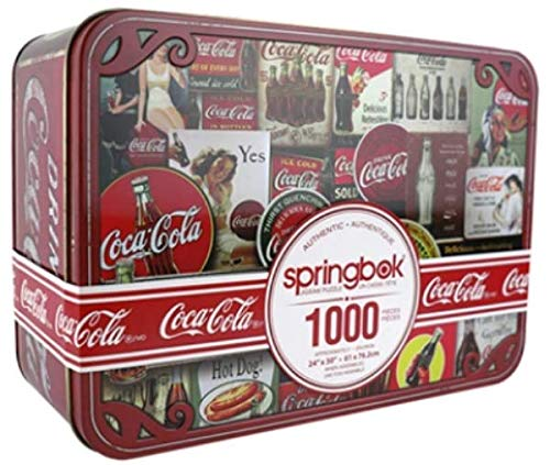 Coca Cola Tin Signs 1000pc rompecabezas en una caja de lata 610mm x 762mm (sk)