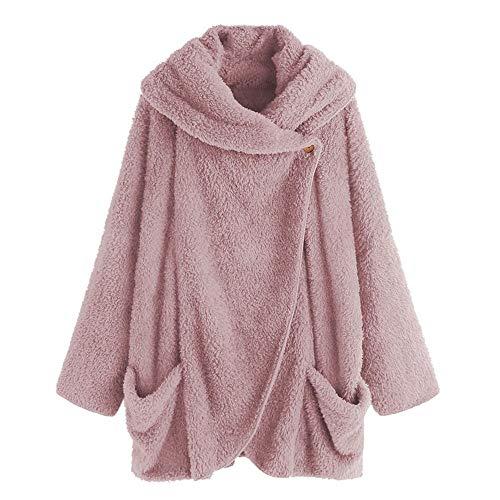 OSYARD Damen long Sleeve Hoodie z-03 rosa(kein hut) 4xl