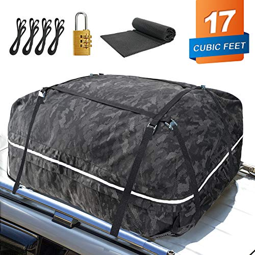 YOULERBU Car Roof Bag 17 Cubic Feet Large Roofing Cargo Carrier Bags...