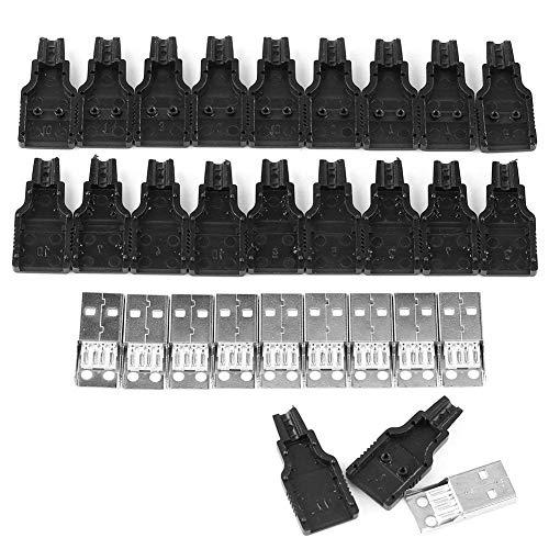 x10 Conector USB Macho 2.0 Tipo A 4 Pin para Cable con Carcasa Plástico Aéreo