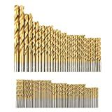 105x HSS Drill Bits Set 1.5-10mm Titanium Coated Drill Bit Tool for Stainless