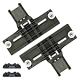 Upgraded W10350375 W10508950 Dishwasher Top Rack Adjuster Kit by Sikawai Fits for Whirlpool Replaces AP5957560 W10712395 EAP10065979, W/1.25inch Diameter Wheels - 4 Pack,High Polymer Material
