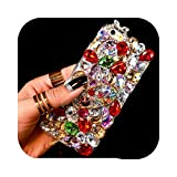 phone cover Coque pour Samsung A80,Coque Luxe 3D Couleur Diamant Strass Bling pour Samsung A50 A90...