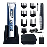 HATTEKER Hair Trimmer Cordless Hair Clippers Beard Trimmer For Men...