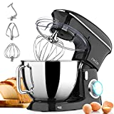 Stand Mixers, Cwiim Professional 8.5Qt 660W 6+P Speed Kitchen Electric Cake Mixer, with Dough Hook, Flat Beater, Whisk, Splash Guard, Tilt-Head Food Mixer for Baking Bread Cookie Pizza Salad Egg