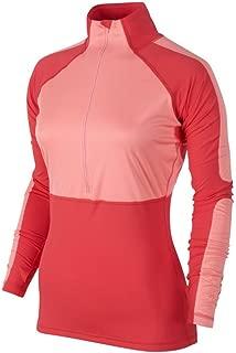 Women's Half Zip Hyperwarm Pro Shield Training Shirt-Coral-XS [Apparel]