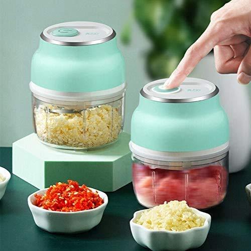 LUCKYY New Mini Electric Fruit Vegetable Onion Garlic Cutter Food Speedy Chopper Slicer - Tragbarer Knoblauchschneider mit wiederaufladbarem USB, gutes Produkt für Mutter, Frau, professionelle Köche