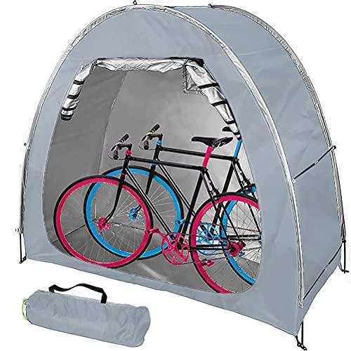 Fundas Portátiles Impermeables para Bicicletas, Revestimiento De Plata Oxford Espesado 210D Y Soporte De Aleación Reforzada para Bicicletas De Camping Al Aire Libre
