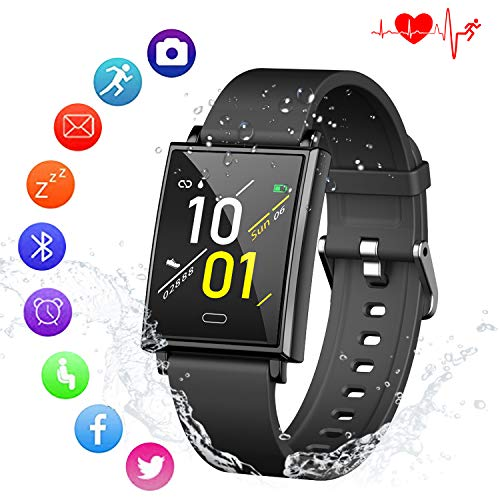 Kirlor Fitness Tracker HR,Waterproof Smart Watch Activity Tracker with Heart Rate Blood Pressure Sleep Monitor Pedometer Calorie Step Counter for Android and iPhone