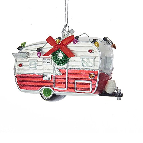 Kurt Adler Glass Camping Car Christmas Ornament Standard