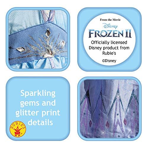 RUC7O|#Rubie's Elsa Frozen2 Adulto Costume, Donna, Azzurro, M