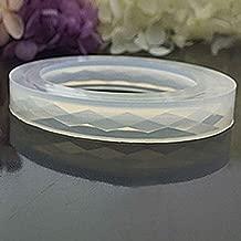 NAYUKY Forma de Diamante de Silicona Superficie del Molde de Resina Pulsera Pulsera DIY del Molde de joyer/ía