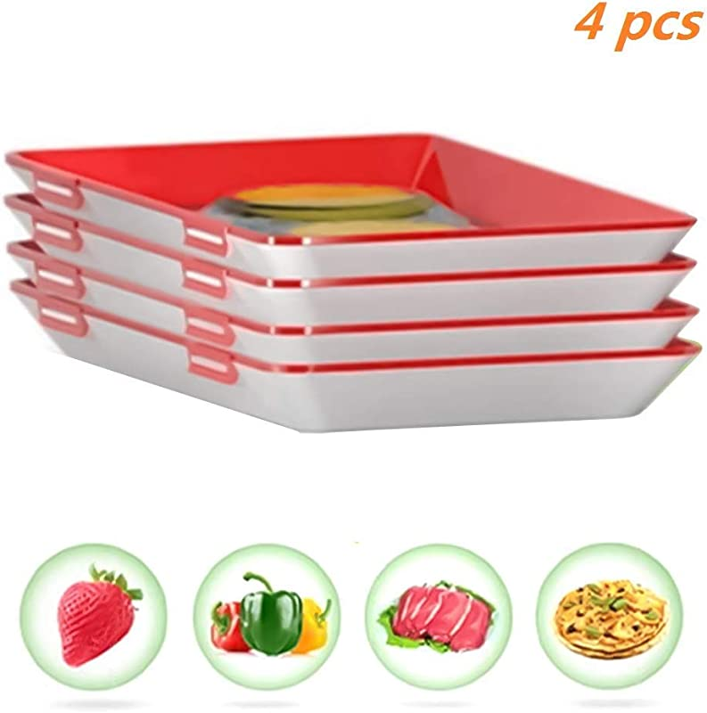 STARmoon Tray Food Plastic Preservation Tray Kitchen Tools Healthy Seal Storage Container