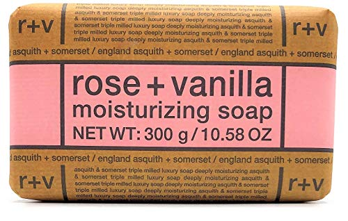 Asquith And Somerset Rose Vanilla Moisturizing Soap Bar 10.58 Oz