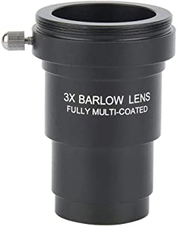 Universal Telescope Eyepiece Barlow Lens,Professional Premium Aluminium Alloy HD 2X Magnification Fully Multi-coated Glass Lens Accessory with M28.60.6 Thread for 1.25in Astronomical Telescope