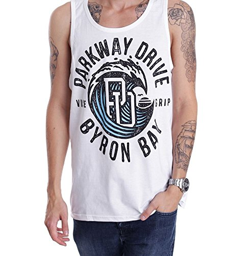 Parkway Drive - Vice Wave White - Tank-Medium