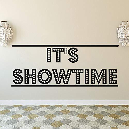 Wandaufkleber Wandkunst Es ist Showtime Poster Film Wandtattoo Kino Theater Dekoration Film Streifen Klebeband Wandaufkleber Kino Ecke Tapete Kunst 57x22cm