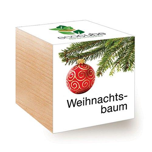 ecocube Holzwürfel - Xmas Tree