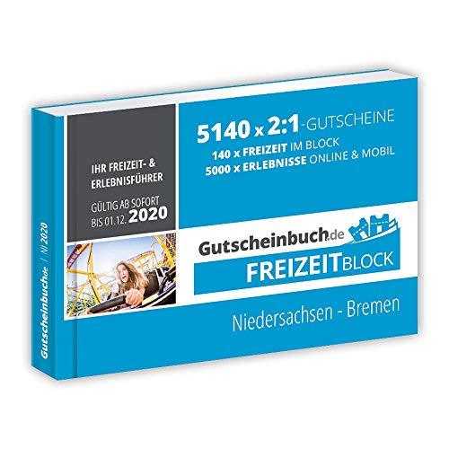 Gutscheinbuch.de Freizeitblock Niedersachsen - Bremen 2019/20